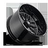 8 LUG FF37 GLOSS BLACK & MILLED 28X16