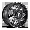 FF65D - Front Gloss Black & Milled 8 lug