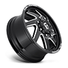 10 LUG FF65D - FRONT GLOSS BLACK & MILLED