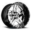 Full Blown - D243 PVD Chrome Center | Gloss Black Lip 6 lug