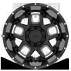8 LUG 743 ARMOR GLOSS BLACK MILLED SPOKES