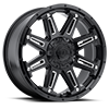 8 LUG 741 MECHANIC GLOSS BLACK WITH CNC MILLED ACCENTS