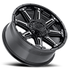 5 LUG 741 MECHANIC GLOSS BLACK WITH CNC MILLED ACCENTS