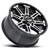 8 LUG 741 MECHANIC GLOSS BLACK WITH MIRROR MACHINED ACCENTS