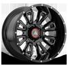 AB808 Blackhawk Gloss Black Milled 6 lug