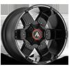 AB811 Warthog Satin Black Milled w/ Gloss Black Accents 6 lug