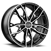 HE907 Gloss Black Machined 5 lug
