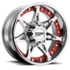 8 LUG MO961 CHROME WITH RED INSERTS