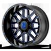8 LUG XD820 GRENADE SATIN BLACK MILLED W/ BLUE TINTED CLEAR COAT