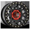 XS235 Grenade Beadlock Satin Black 4 lug