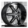HE891 Gloss Black w/ Gloss Black and Chrome Accents 6 lug