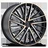 5 LUG KM697 NEWTON SATIN BLACK W/ MACHINED DARK TINT FACE
