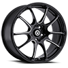 5 LUG ILLUSION GLOSS BLACK WITH BALL MILLED SPOKE ACCENTS