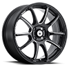 4 LUG ILLUSION GLOSS BLACK WITH BALL MILLED SPOKE ACCENTS