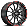 Tweakd Black w/Red Stripe 5 lug