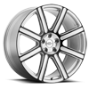 Wilks Silver w/ Gloss Black Face 5 lug