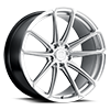 5 LUG MADRID HYPER SILVER W/ MILLED SPOKE & BRUSHED FACE