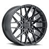 Phoenix Double Black with Matte Black with Gloss Black Face 5 lug