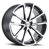 Wolf Gunmetal Mirror Cut Face 5 lug