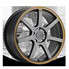 MR132 Matte Grey w/ Orange Stripe 5 lug
