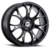 MR126 Gloss Black w/ Milled Accents 5 lug