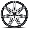 5 LUG 414 MODENA MIRROR MACHINED FACE WITH GLOSS BLACK ACCENTS