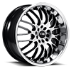 5 LUG NS9003 BLACK WITH MACHINED FACE AND LIP