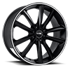 NS9012 Matte Black with Machined Strip 5 lug