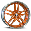 VIZZO Orange/White Center, Chrome Lip 5 lug
