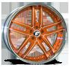 VIZZO Orange/White Center, Chrome Lip 5 lug