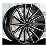 439 Turbine Gloss Black Diamond Cut 6 lug