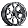 Morland Gloss Metallic Black w/ Brushed Tinted Face & Black Bolts 5 lug