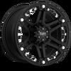 T-01 Flat Black w/ Chrome Inserts (Covered Cap) 15 6 lug