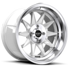 R358 Gloss White & Machined 4 lug
