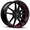 R364 Satin Black w/ Red Undercut 4 lug