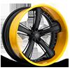 SV56-C Black with Yellow Lip 5 lug