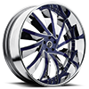 Solaro Chrome and Blue 5 lug