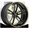 SV51-C Black and Yellow 5 lug