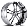 SV21-S Black with Chrome Solid inserts 5 lug