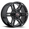 SC-8 Milled/Black 6 lug