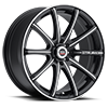 SP-19 Gloss Black Machined 4 lug