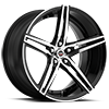 SPM-75 Gloss Black Machined 5 lug