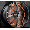 SV26-S Black and Orange 5 lug