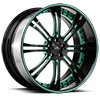SV27-S Black and Green 5 lug