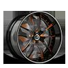 SV40-S Black and Orange with Silver Pinstripe 5 lug