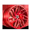 SV62-D Brushed Red 5 lug