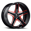 5 LUG SV8-C BLACK AND RED