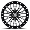 5 LUG 537 MIRROR MACHINED FACE AND LIP EDGE WITH GLOSS BLACK