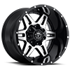 6 LUG 538 GLOSS BLACK WITH MIRROR MACHINED FACE