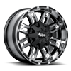 6 LUG TRAXX GLOSS BLACK MACHINED FACE SMOKED CLEAR